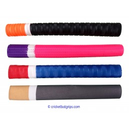 Three coloured cricket bat grip in 20-10-70 design