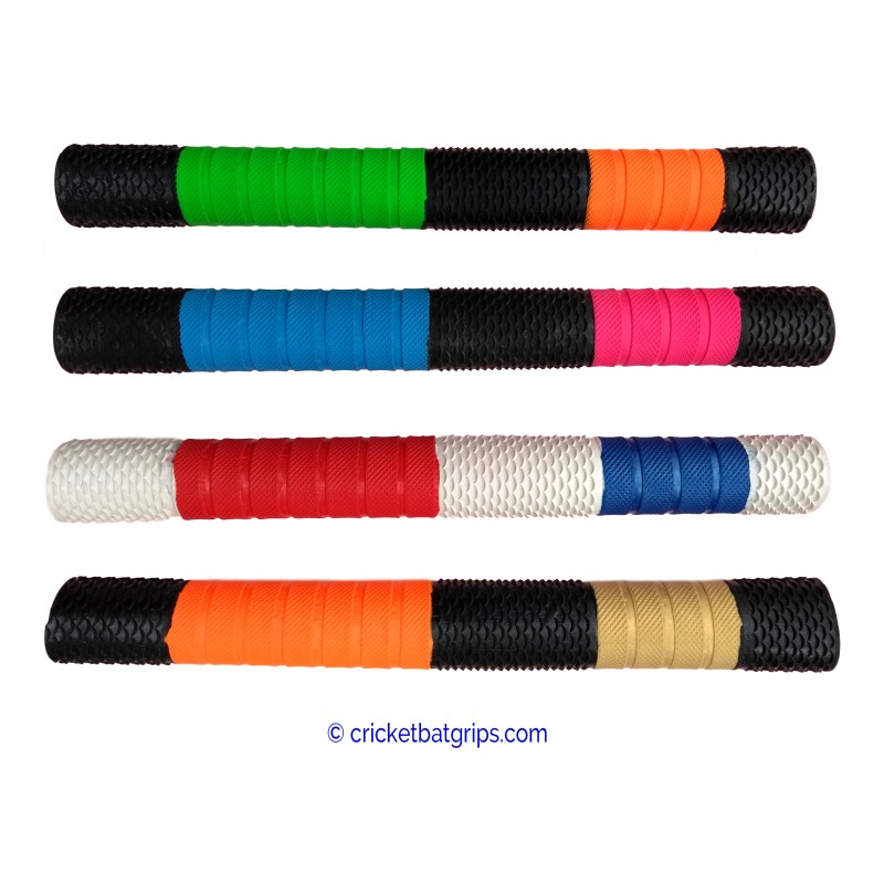 Penta design and texture cricket bat grip in 3 colours
