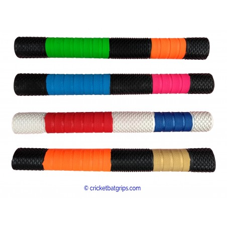 """Splash-Spiral"" Two Coloured Cricket Bat Grip"