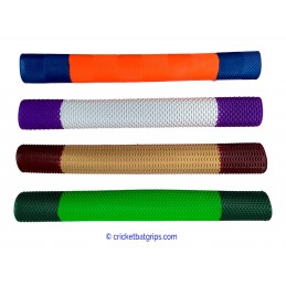 Two coloured cricket bat grip in 20-60-20 design