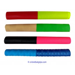 Two coloured cricket bat grip with equal bars